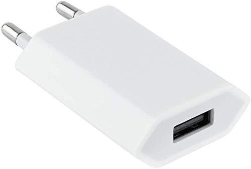 Cargador Phone Universal Adaptador Enchufe USB para Phone 7 Plus, 8 Plus, 6S/6 Plus, XS/XR, 5S/5C/5E, Compatible con Pad/Pod/Tablet/Smartphone
