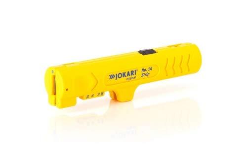 JOKARI Strip No. 14 Entmanteler für Rundkabel von 4-13 mm | mit PVC-Mantel oder Flachkabel bis 12