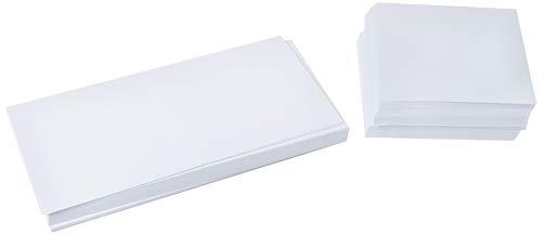 Crafts UK - 50 Cartes et enveloppes 10x10 cm, Blanc, 10,2 x 10,2 cm 382 995