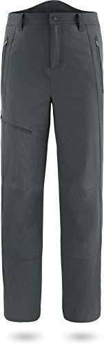 normani Herren Fleecehose Winter Softshellhose wattierte, Wind- und wasserdichte Skihose Trekkinghose Farbe Anthrazit Größe M/50