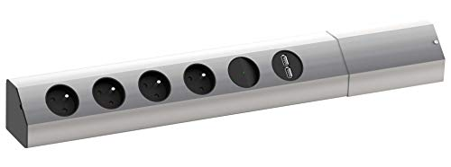 BACHMANN 923.01199999999994 Steckdosenleiste CASIA, 4-fach, UTE, USB