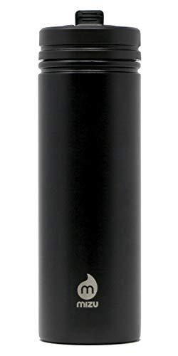 Mizu Unisex– Erwachsene M9 Trinkflasche, Black, One Size