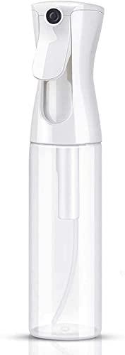 Pulverizador Agua Spray en Bruma Continuo Bote Atomizador Botella Rociador Difusor Bottle Vacio Vaporizador Cabello Plantas Frasco Pelo Peluqueria (10.1oz 300ml Transparente)