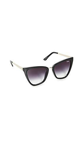 Quay Women's x JLO Reina Sunglasses, Black/Black Fade Lens, One Size