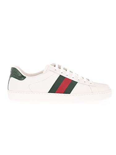 Moda De Lujo | Gucci Hombre 386750A38309071 Verde Cuero Zapatillas | Temporada Permanente