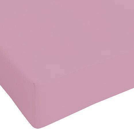 DEMONA Lenzuola sotto con Angoli Maxi IRGE Singolo Piazza E Mezza Vari Colori Offerta Elastico Copri Materasso (Rosa Antico, Piazza E Mezza)