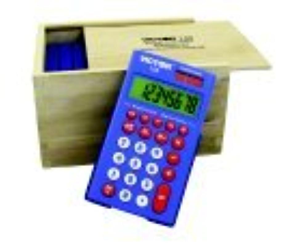 バインドブート請求可能Victor 8桁電卓セットwith生分解性木製ストレージbox44?;セット?–?10