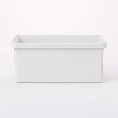 無印良品 ポリプロピレン収納ボックス・中・ホワイトグレー