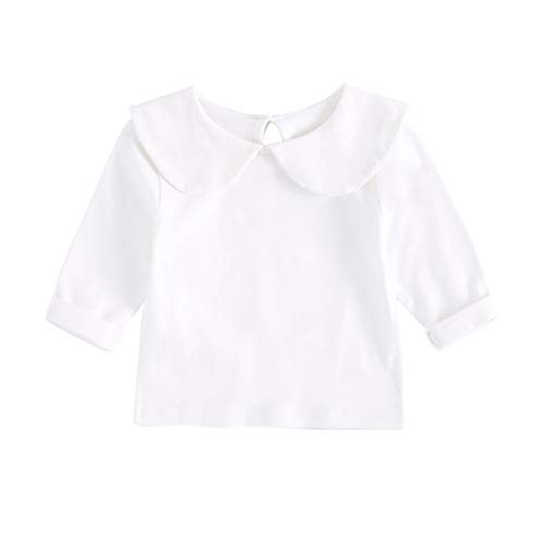 UMore Bebé Niña Manga Corta Camisetas Casual Niñito Bebita Tops para Verano Tops Blancos Algodón