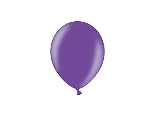 Les Colis Noirs LCN - Lot de 10 Ballon Métallique 23cm - Violet - Décoration Fête Mariage - 871