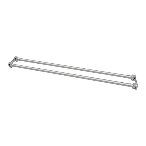 Naiture 60'' Stainless Steel Double Straight Shower Curtain Rod, Chrome Finish