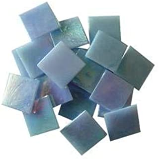 Jennifer's Mosaics Light Blue 3/4-Inch Iridized Venetian Style Glass Mosaic Tile, 8-Ounce