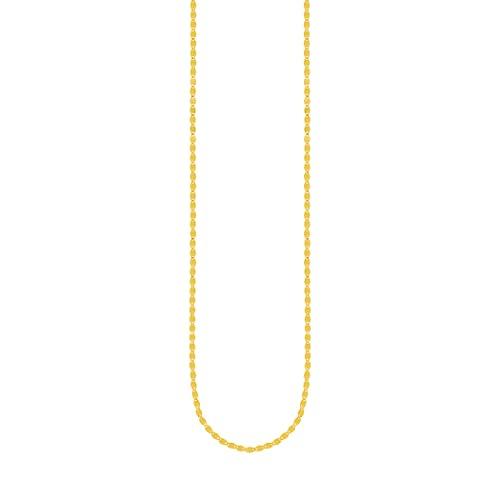 Pulsera de cadena de oro amarillo de 14 quilates de 2,7 mm con cierre de mosquetón de 7,50 pulgadas de joyería regalos para mujeres