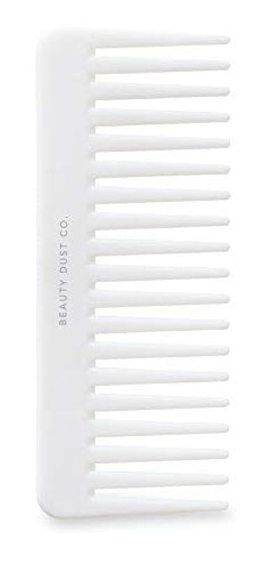 最悪姿を消す寛解Beauty Dust Co Detangling Shower Comb - Gently Detangles. Helps reduce breakage, fraying and split ends. Wide tooth comb is gentle on the scalp. [並行輸入品]