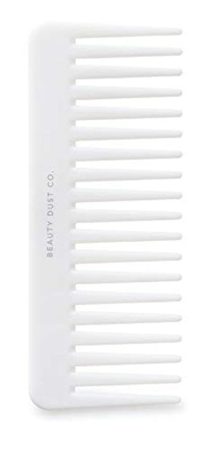 肥満無オーラルBeauty Dust Co Detangling Shower Comb - Gently Detangles. Helps reduce breakage, fraying and split ends. Wide tooth comb is gentle on the scalp. [並行輸入品]