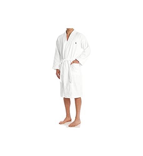Ralph Lauren Männer Polo Kimono Velour Robe Weiß XL