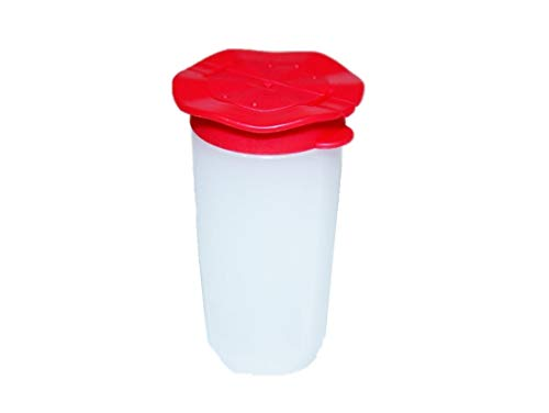 Tupperware Salt and Pepper Shaker Small Personal Travel Size Red