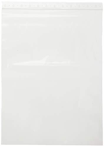 HeiZip zakje met druksluiting, 90 mμ/MY (extra sterk), transparant, onbedrukt met PE-logo in de vlag 300 X 400 X 0,09 mm - 100 St.