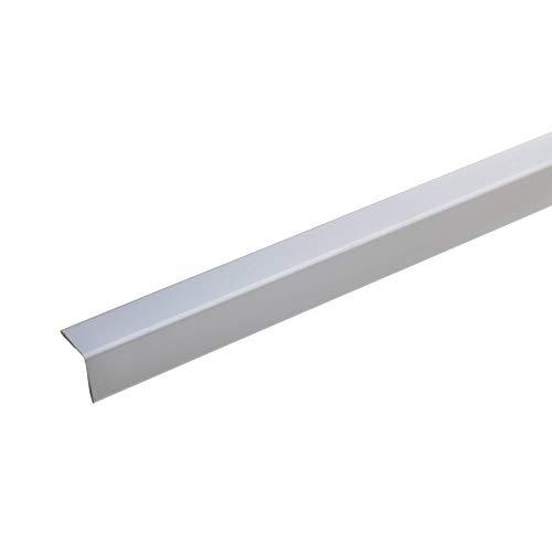 acerto 38154 Perfil de protección angular de aluminio 100cm / 25 x 25mm * Autoadhesivo * Made in Germany * Triple canto sin punta | Perfil angular barra angular como protección