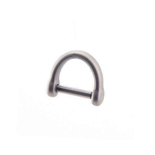 FEGVE Titanium D Ring Horseshoe Keyring U Shape Keychain Car Key Tool for Men and Women (Grey-Short)