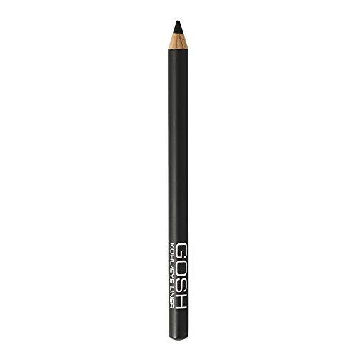 GOSH Kohl/Eyeliner & Kajal 2 in 1 Schminkstift | auch als Lidschatten geeignet | mit pflegendem Vitamin E | einfaches Auftragen auf oberes & unteres Augenlid | vegan & parfümfrei | Black
