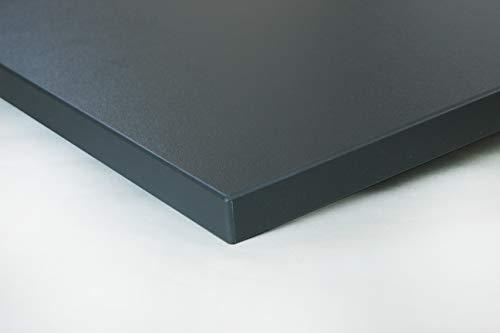 Schreibtischplatte 120x80 aus Holz DIY Schreibtisch direkt vom Hersteller vielseitig einsetzbar - Tischplatte Arbeitsplatte Werkbankplatte mit 125kg Belastbarkeit & Kratzfestigkeit - Graphitgrau