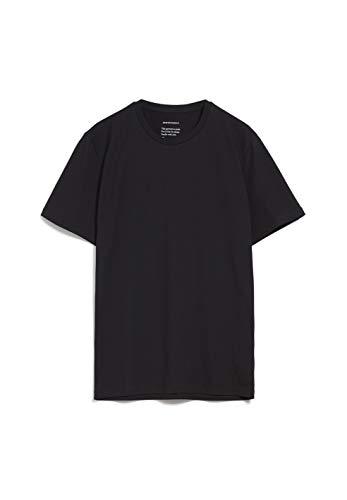 ARMEDANGELS JAAMES - Herren T-Shirt aus Bio-Baumwolle M Black Shirts T-Shirt Rundhals Regular fit