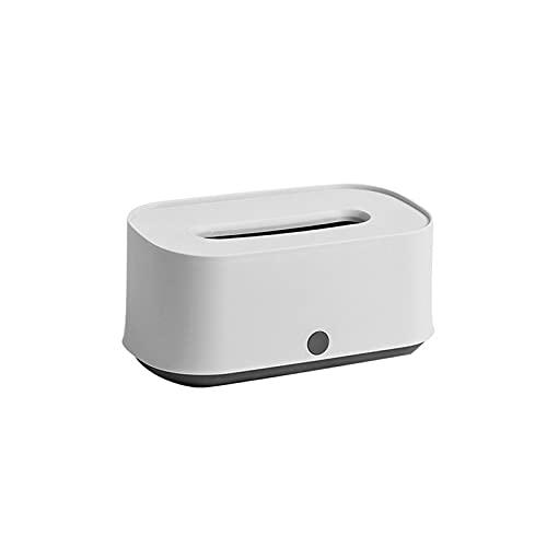 FENGCHENG Caja De Almacenamiento De Pañuelos Caja De Almacenamiento De Pañuelos Domésticos Creativa Simple Y Elegante Blanco