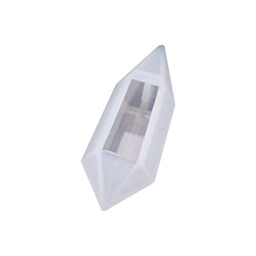 Moldes de resina de silicona para hacer joyas, molde de epoxi UV de cristal suave, molde colgante de bricolaje, colgante de joyería para hacer joyas