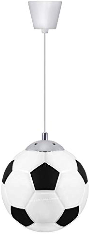 Kronleuchter Moderne Minimalistischen Fuball 3 Kopf Kreative LED Pendelleuchte Für Kinderzimmer Schlafzimmer Durchmesser 30 Cm 110-240 V Kronleuchter