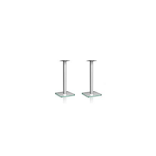 Nubert BS-652 Boxenstativpaar | Stative für Kompaktlautsprecher von Nubert bis 10 kg | Höhe 65 cm | Echtglasständer | Lautsprecheruntersatz aus Aluminium | Original Nubert Zubehör | Klarglas | 2 Stück
