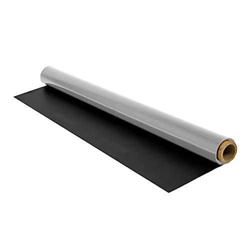 IncStores 1.2mm Thick Reversible Dance Floor Roll   Low-Reflection Vinyl Marley Dance Flooring for Practice and Performance of Countless Dance Styles   Black/Grey, 10 Ft