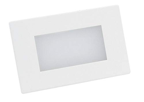 LMOSPLED503BN LUCE SEGNAPASSO LED 3W ALIMENTAZIONE 230V 200 LUMEN LUCE NATURALE 4000°K SMD 15 cm FINITURA metallo e policarbonato Inox/bianco CRI 80Ra 120° IP 65