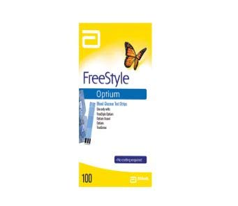 FREESTYLE OPTIUM - 100 Tiras Reactivos para el cuerpo Prueba de Glicemia - GRATIS ESTILO