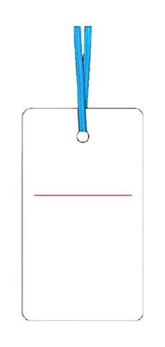 つくし ケーブルタグ 荷札式 白無地 両面印刷 ビニタイ付き 30E