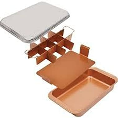Copper Chef Bake & Crisp Pan - 4 Piece Non-Stick Baking Set