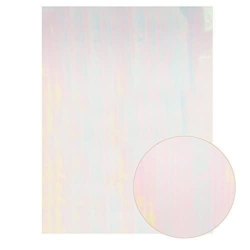 VIAIA 22 * 30 cm Tela de Cuero sintética Liso de Color sólido PU Cuero de PU DIY Boy Tela de Vinilo Accesorios de Tela A4 Tamaño de la Hoja de Brillo para Bolsa (Color : White)