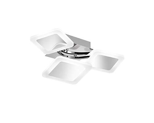Preisvergleich Produktbild WOFI Deckenleuchte,  Stahl^Acryl,  Integriert,  23 W