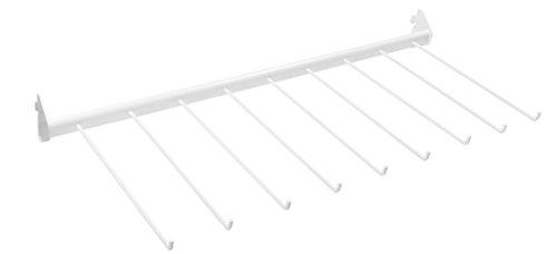 Connex Regalelement Hosenhalter, 80 x 30 cm, weiß, Metall, 29.5 x 78.5 x 4.5 cm