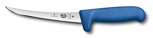 Victorinox 5.6612.15M Couteau à désosser avec Lame courbée/étroite Flexible, Acier Inoxydable, Bleu, 30 x 5 x 5 cm