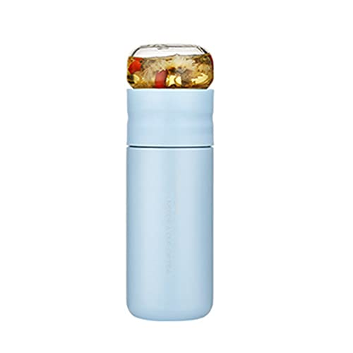 Insulated Cup with Filter Stainless Steel Tea Bottle Cup with Glass Infuser Separates Tea and Water 300ML