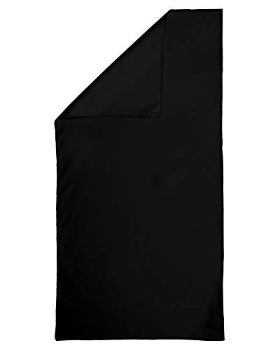 Dream Art 3450 Strandtuch und Badehandtuch (Mikrofaser), schnelltrocknend, platzsparend inkl. atmungsaktiver Netztasche, für Strand, Sport, Wandern und vieles mehr, 90 x 180 cm, schwarz