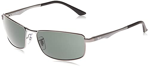 Ray-ban Mod. 3498 - Gafas de sol para hombre, color gris (matte gunmetal/green), talla 61