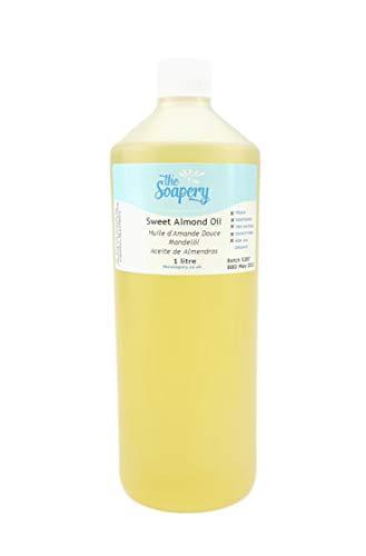 Huile d'amande douce - 1 liter produit cosmétique pour massage, aromathérapie, savons et lotions.