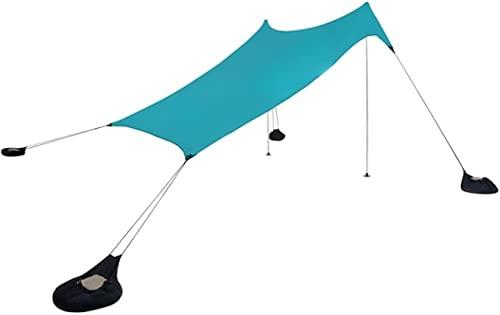 Tents Grande Tente de Plage 2,1 m de Haut, 2,7 x 2,7 m, Coins Renforcés et Poche Glacière (Bleu)