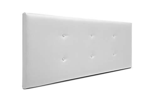 SUENOSZZZ-ESPECIALISTAS DEL DESCANSO Cabecero de Cama Bruselas tapizado en Polipiel para Camas de 90 (100 x 57 cm) Polipiel Blanco