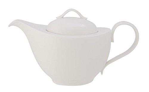 Villeroy & Boch New Cottage Basic Teekanne, Premium Porzellan, Weiß,