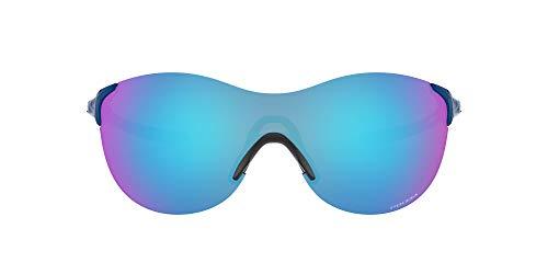 Oakley Women's OO9453 EVZero Ascend Rectangular Sunglasses, Poseidon/Prizm Sapphire, 37 mm