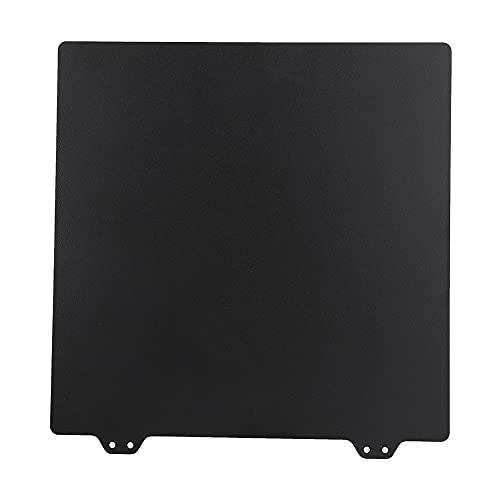 3D Printer PEI, Double-sided Resin Flexible Steel Fiberglass Panels Made of Metal Powder Steel Plate (Black)