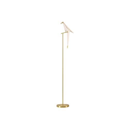 Hlele staande lamp met voet, metaal, wit, industriële stijl, acryl, voor kantoor, eetkamer, woonkamer